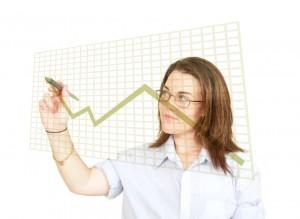 business woman graph